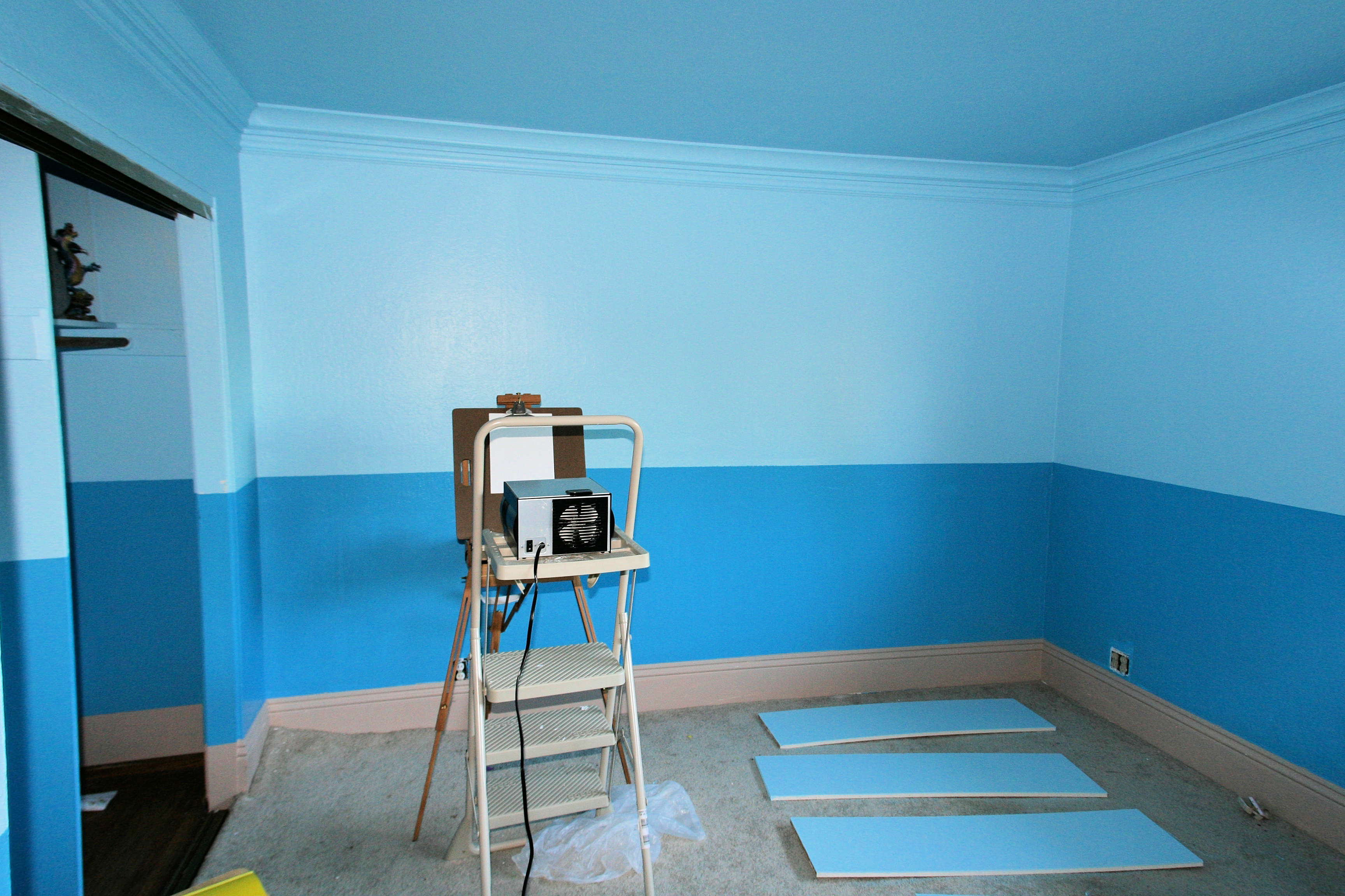 Blue Room With Rooms Painted